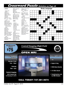 Crossword Puzzle Solution on Page 18