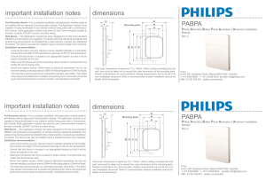 important installation notes PABPA PABPA dimensions dimensions