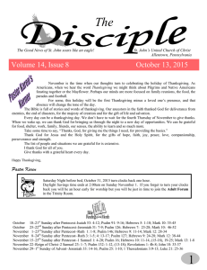 Volume 14, Issue 8 October 13, 2015