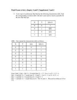 Final Exam review Solution