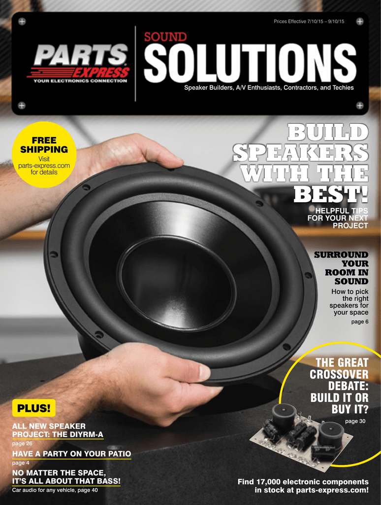 Build Speakers With The Best Subwoofers Will Consistent Power To Both Maximizing Your