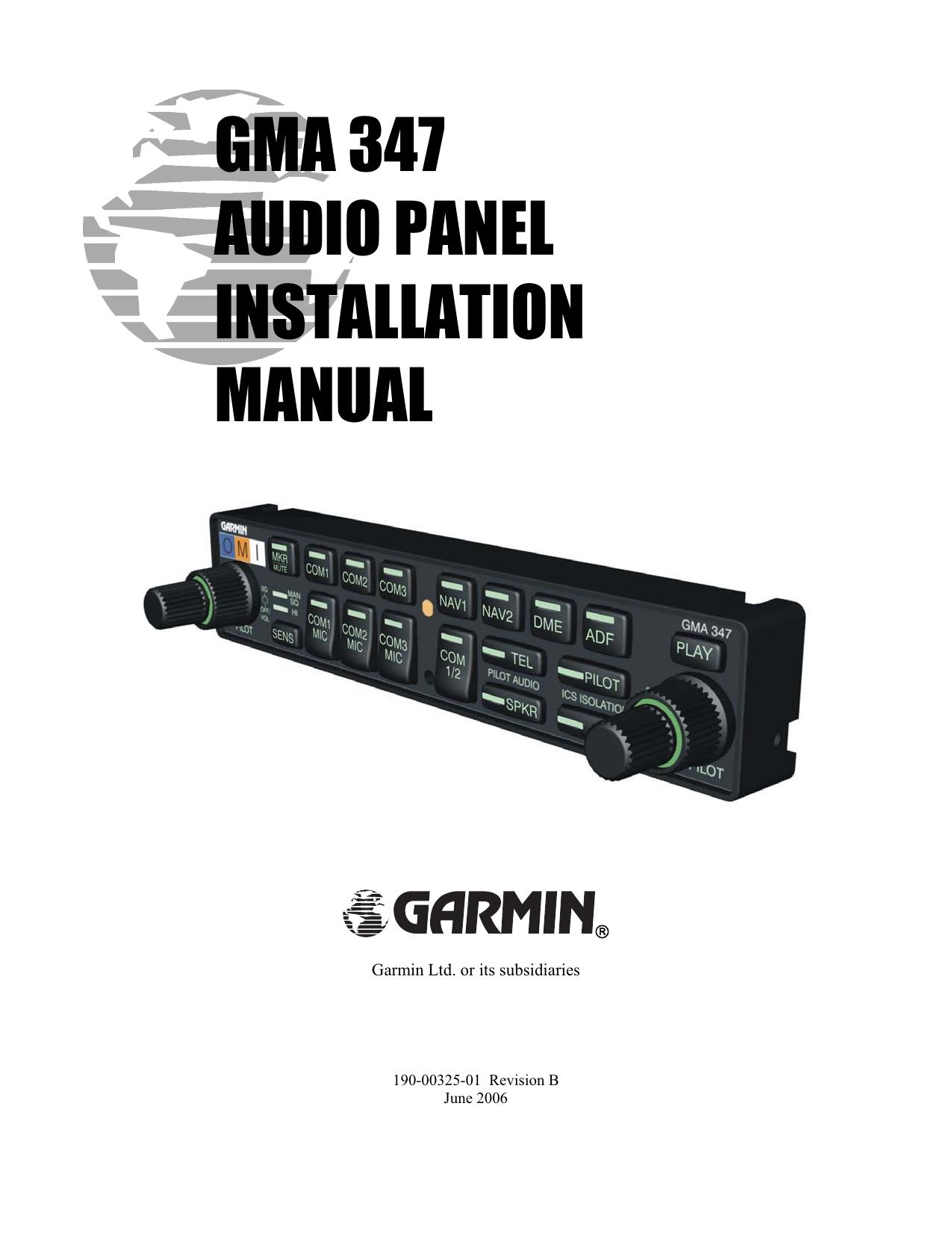 diagram installation manual gma 340