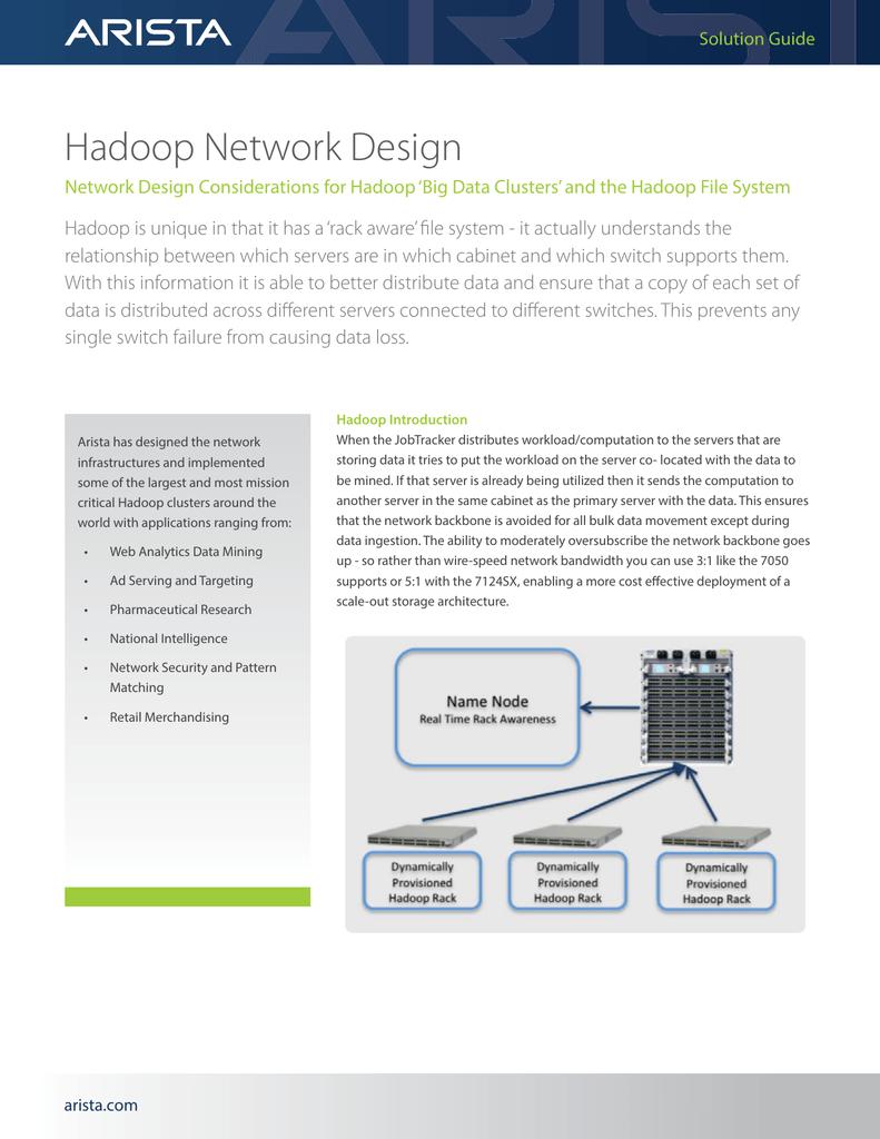 Hadoop Design Considerations