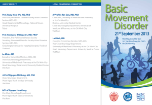 Basic Movement Disorder Course - The Movement Disorder Society