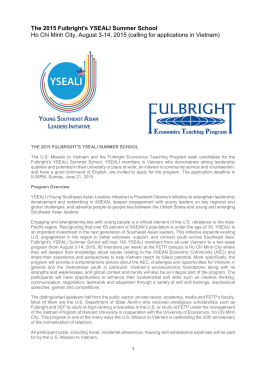 The 2015 Fulbright`s YSEALI Summer School Ho Chi Minh City