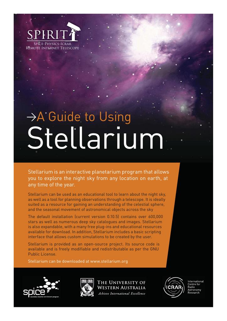 A Guide to Using Stellarium