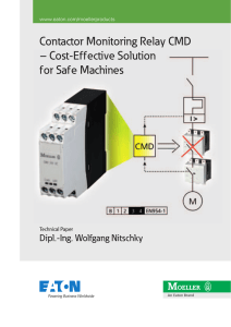 Contactor Monitoring Relay CMD – Cost-Effective