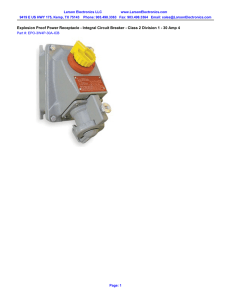 Explosion Proof Power Receptacle - Integral Circuit Breaker