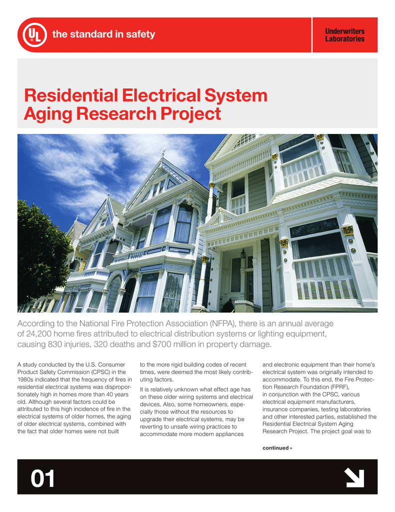 Admirable Residential Electrical System Aging Research Project Wiring 101 Relewellnesstrialsorg