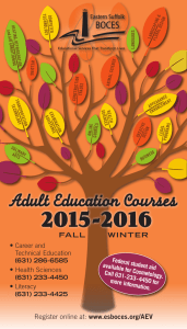 Adult Education Courses