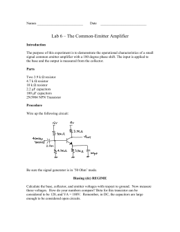 Lab 6 – The Common-Emitter Amplifier