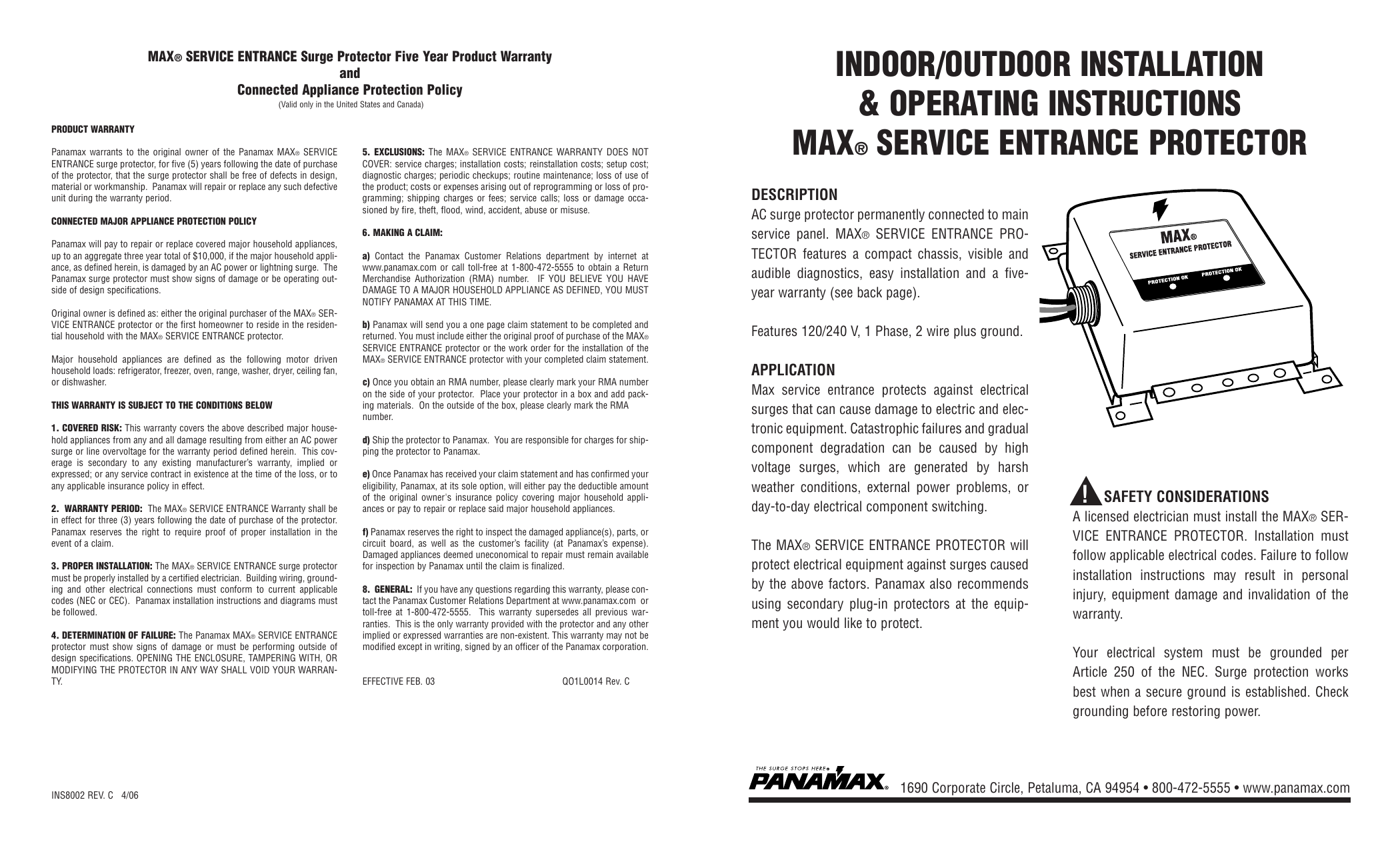 Enjoyable Max Service Entrance Surge Protector Five Year Wiring Digital Resources Indicompassionincorg