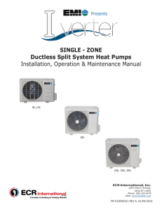 Ductless Split System Heat Pumps Installation, Operation
