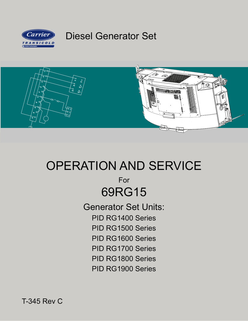 OPERATION AND SERVICE 69RG15