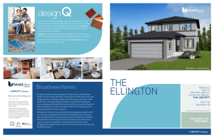 the ellington - Broadview Homes