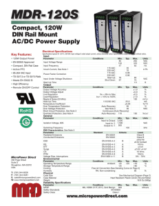 MDR-120S Datasheet - Micropower Direct