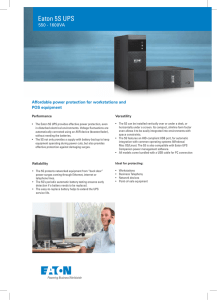 Eaton 5S UPS - Fusion Power Systems
