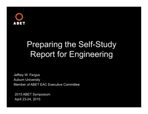 Preparing the Self-Study Report for Engineering