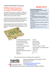 70 MHz to L-Band Up/Down Converter - Narda