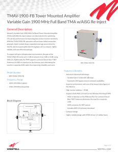 TMAV-1900-FB Tower Mounted Amplifier Variable Gain 1900 MHz