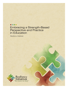 Embracing a Strength-Based Perspective and Practice in Education
