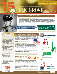 View Newsletter - City of Elk Grove