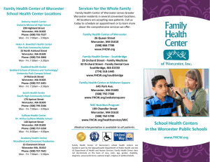 School Health Centers in the Worcester Public Schools