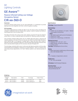 GE Aware™ Passive Infrared Ceiling Low Voltage