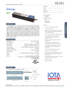 Product Sheet - IOTA Engineering