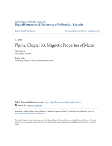 Physics, Chapter 33: Magnetic Properties of Matter