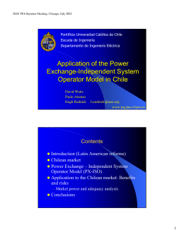 Application of the Power Exchange
