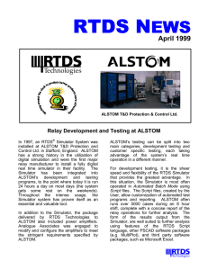 RTDS News April 1999 - RTDS Technologies Inc.
