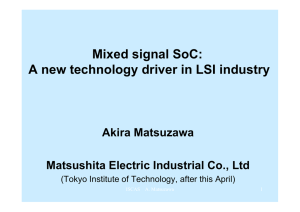 Mixed Signal SOC Circuit Design