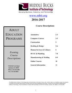 Course Descriptions - Middle Bucks Institute of Technology