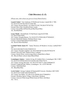 Club Directory (LZ) - Scottish Football Association