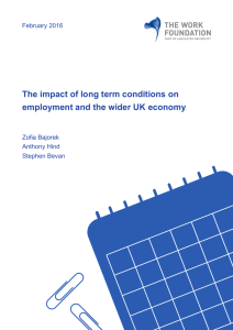 The impact of long term conditions on employment and the wider UK