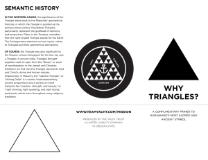 why triangles?