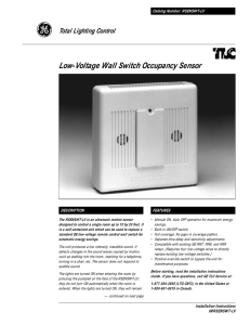 Low-Voltage Wall Switch Occupancy Sensor