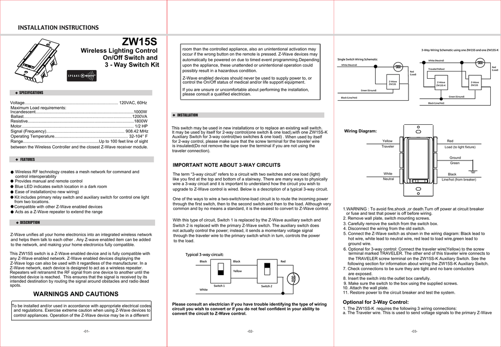 4 Way Diagrams For Zen26 And Zen27 S2 Switches Manual Guide