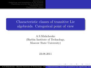 Characteristic classes of transitive Lie algebroids. Categorical point