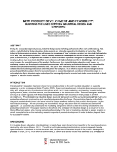 NEW PRODUCT DEVELOPMENT AND FEASIBILITY: