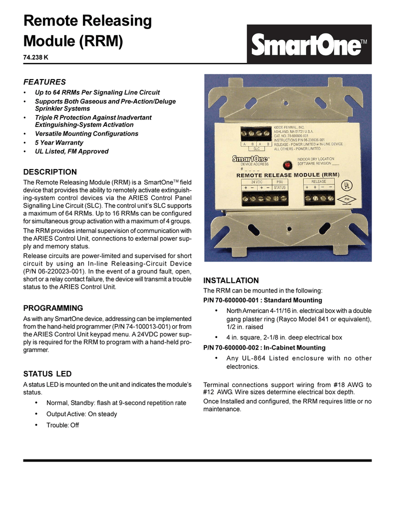Remote Releasing Module (RRM)