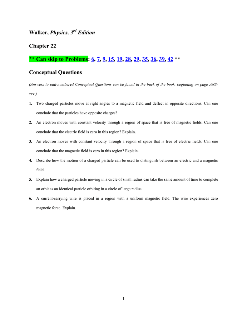 PDF list of all Ch. 22 Conceptual Questions