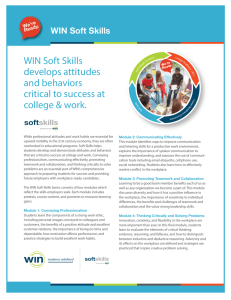 WIN Soft Skills develops attitudes and behaviors