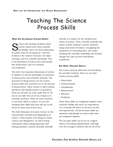 Teaching The Science Process Skills