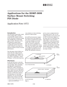 Applications for the HSMP-3890 Surface Mount Switching