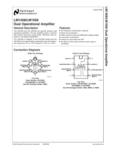 LM1458/LM1558 Dual Operational Amplifier
