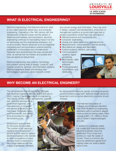what is electrical engineering? why become an electrical engineer?