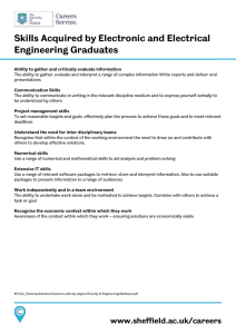 Skills Acquired by Electronic and Electrical Engineering Graduates