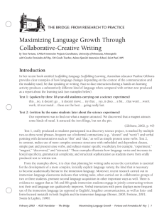 Maximizing Language Growth Through Collaborative